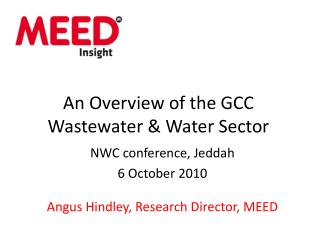 An Overview of the GCC Wastewater  Water Sector