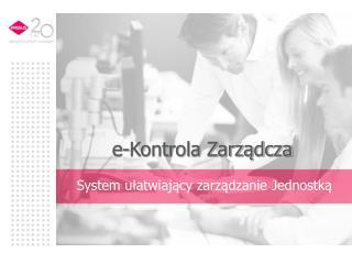 e-Kontrola Zarządcza