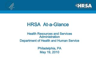 HRSA  At-a-Glance