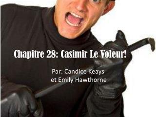Chapitre 28: Casimir Le  V oleur!