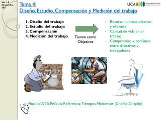 1. Diseño  del trabajo 2. Estudio  del trabajo 3. Compensación  4. Medición  del trabajo