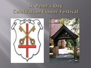 St. Peter's Day  Celebration Flower Festival