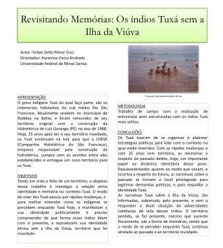 Revisitando Memórias: Os índios  Tuxá  sem a Ilha da Viúva