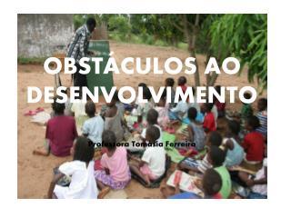 OBSTÁCULOS AO DESENVOLVIMENTO Professora  Tomásia Ferreira