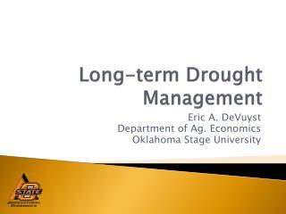 Long-term Drought Management