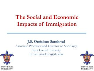 The Social and Economic Impacts of Immigration