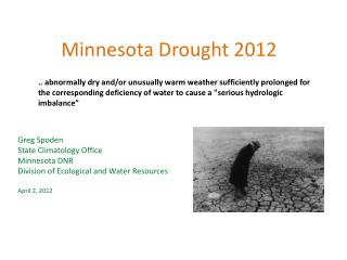 Minnesota Drought 2012
