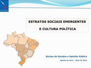 N�cleo de Estudos e Opini�o P�blica Agosto  de 2012 �  Maio  de 2013