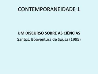 CONTEMPORANEIDADE 1