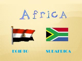 EGIPTO                 SUDAFRICA