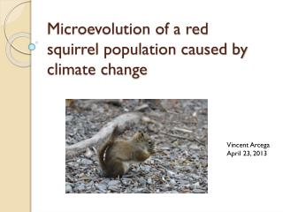 Microevolution of a red squirrel population caused by climate change