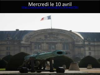 Mercredi  le 10  avril