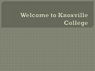 Welcome to Knoxville College