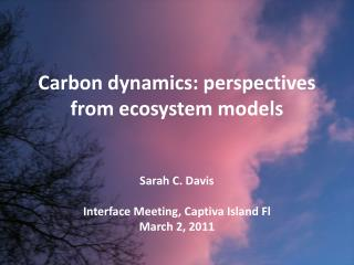 Carbon dynamics: perspectives from ecosystem models