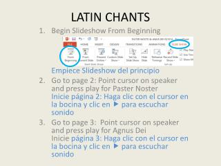 LATIN CHANTS