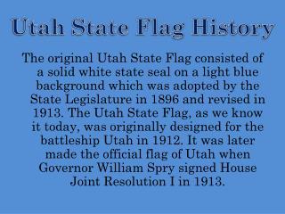 Utah State Flag History