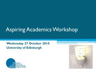 Aspiring Academics Workshop