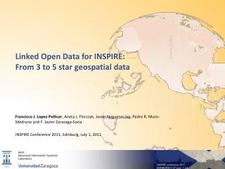 Linked  Open Data  for  INSPIRE:  From  3  to  5  star geospatial  data