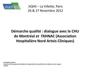 JIQHS – La Villette, Paris 26 & 27 Novembre 2012