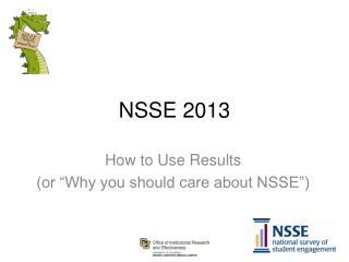 NSSE 2013
