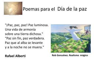 Poemas para el   Día de la paz