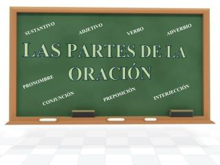 LAS PARTES DE LA ORACIÓN