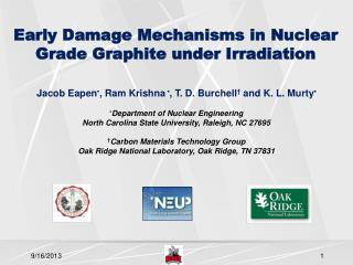 Early Damage Mechanisms in Nuclear Grade Graphite under Irradiation