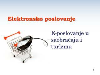 E- poslovanje u saobraćaju i turizmu