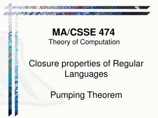 MA/CSSE 474