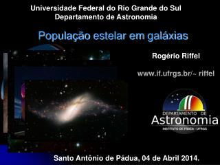 População  estelar em  galáxias