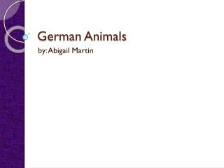 German  Animals