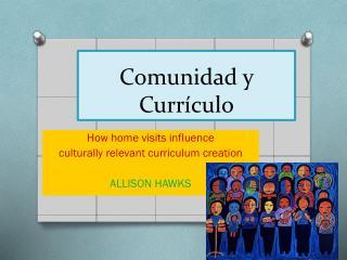 Comunidad y Currículo