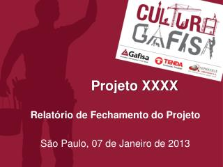 Projeto  XXXX