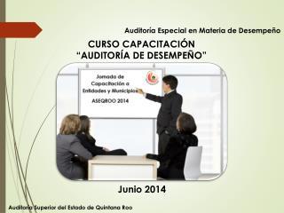 """CURSO CAPACITACIÓN """"AUDITORÍA DE DESEMPEÑO"""""""