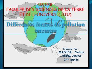 USTHB FACULTE DES SCIENCES DE LA TERRE ET DE L' UNIVERS  ( STU)