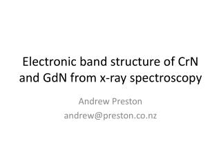 Electronic band structure of  CrN  and  GdN  from x-ray spectroscopy