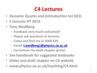 C4 Lectures