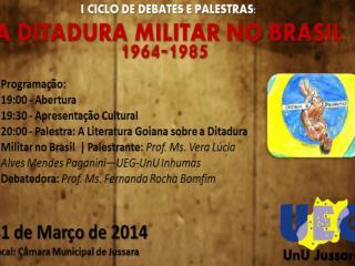 Literatura  Goiana sobre a Ditadura Militar no  Brasil  1 - O papel da literatura