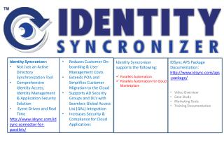 Identity  Syncronizer : Not  Just an Active Directory Synchronization Tool