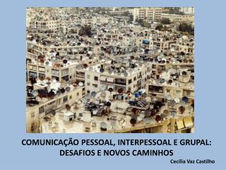 COMUNICAÇÃO PESSOAL, INTERPESSOAL E GRUPAL:  DESAFIOS E NOVOS CAMINHOS Cecília Vaz Castilho