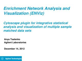 Enrichment Network Analysis and Visualization (ENViz)