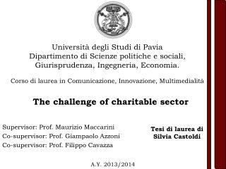 Supervisor: Prof. Maurizio Maccarini  Co-supervisor: Prof. Giampaolo  Azzoni