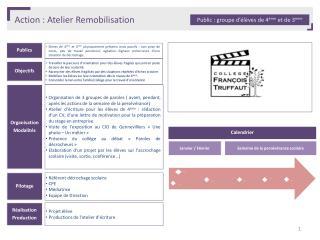 Action :  Atelier Remobilisation