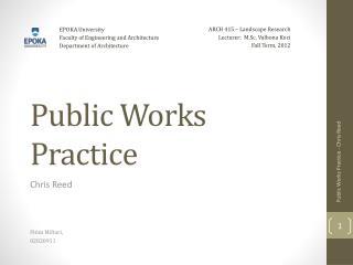 Public Works Practice