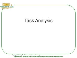 Task Analysis