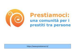 Prestiamoci: una comunità per i prestiti tra persone