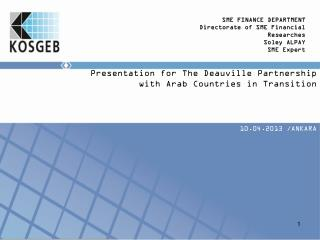 Presentation  for The Deauville Partnership with Arab Countries  in  Transition