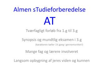 Almen sTudieforberedelse AT