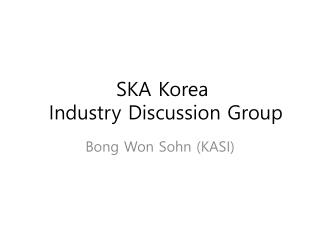 SKA Korea  Industry Working Group