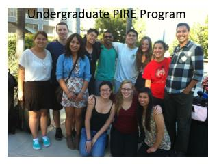 Undergraduate PIRE Program
